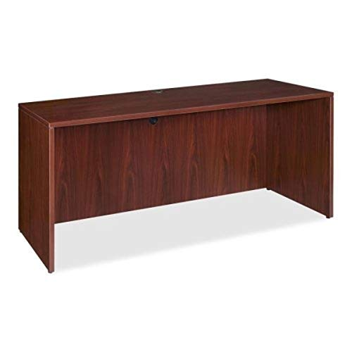 Lorell Credenza Shell, 72 by 24 by 29-1/2-Inch, Mahogany