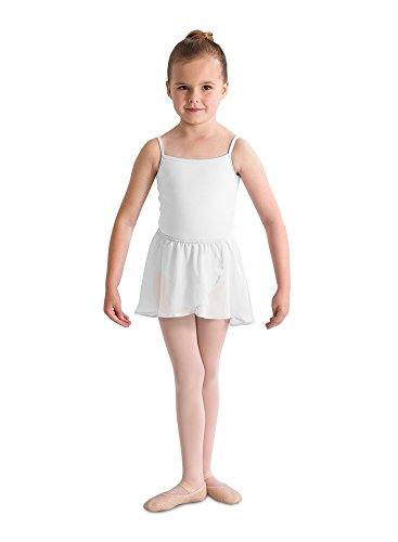 Kinder Ballett Wickelrock mit Gummizug WHITE Gr. 6-7
