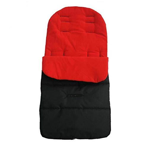 Cochecito para Niños Cochecito del Amortiguador De Asiento Colchón Pushcar Accesorios Negro Rojo