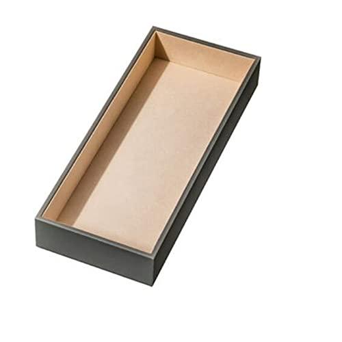 XZQ Caja De Exhibición De Almacenamiento para Guardar Relojes, Corbatas, Gafas De Sol Y Varios Accesorios De Joyería, Administrador De Cajones, Cuero De Alta Gama, 6 Estilos