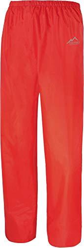 normani Überziehhose Regenhose wasserdichte, atmungsaktive Wetterschutzhose Farbe Rot Größe L