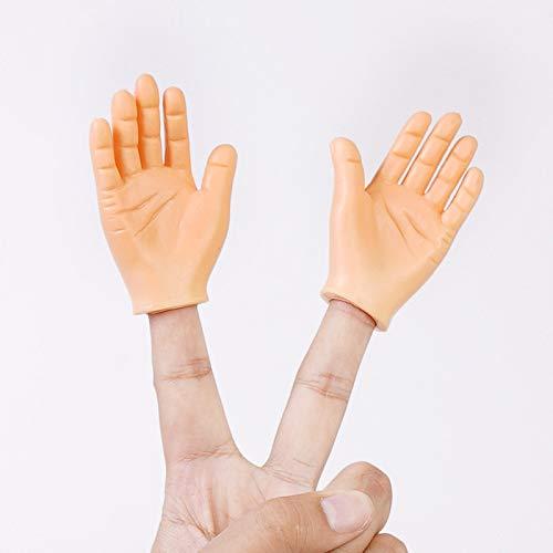 Marionetas De Dedo Mini Manos De Dedo con Mano Izquierda Y Mano Derecha para Trucos Divertidos De Fiesta De Juegos