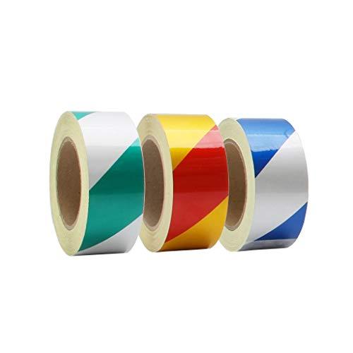 AJZXHE Warnband 3pcs reflektierendes Band, 50mm x 30m reflektierende Warnwasserdichtes Band, klar in der Nacht Reflexions Fahrzeug, wobei die Fahrzeugkontur von Kinderwagen und Fahrrad (tricolor) Sich