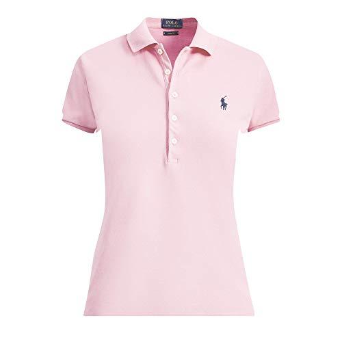 Ralph Lauren Polo Damen Kurzarm Stretch Poloshirt Rosa (S)