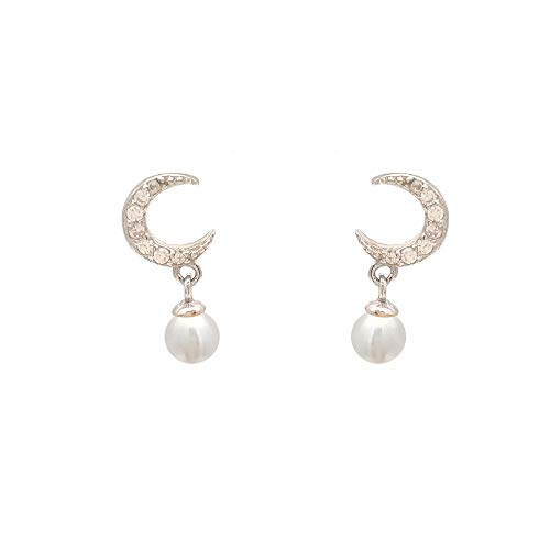 regalo per la festa della mamma,ELAINZ HEART design unico Orecchini da donna in vera perla per donna goccia, orecchini in argento s925 con perla d'acqua dolce