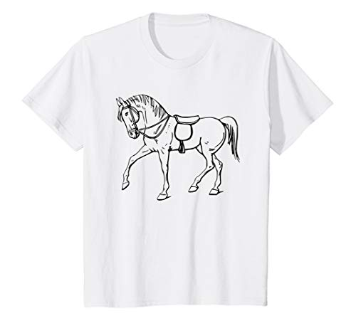 Kinder T-shirt zum bemalen für Kinder Pferd Malvorlage Geschenk T-Shirt
