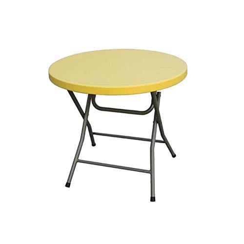 WTT klaptafel voor eettafel, klein, rond, voor huis, eettafel, tafel en stoelen, voor buiten, draagbaar, klein, rond, inklapbaar, rond (kleur: A)
