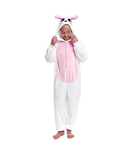 Pijamas Enteros de Animales Niñas y Niños Unisex【Tallas Infantiles 3 a 12 años】 Disfraz Conejo Bunny Mono Enterizo Carnaval Fiestas【Talla 10-12 años】