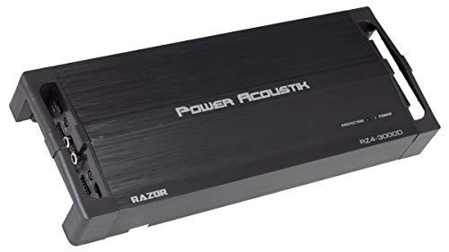 Power Acoustik RZ4 3000D Razor Series Class D Full-Range & Monoblock Amp 4 Channels, 3,000 Watts Max