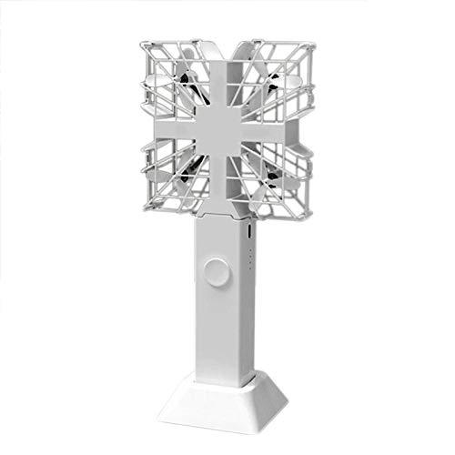 Nrpfell Ventilador para Drones Peque?O 3 en 1 Gris Inteligente HD Drone Multifuncional Fuente de AlimentacióN MóVil Control Remoto con Asa