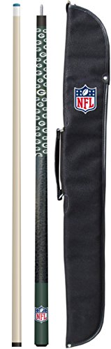 """Imperial Officially Licensed NFL Merchandise: 57"""" 2-Piece Billiard/Pool Cue with Soft Case, Green Bay Packers"""