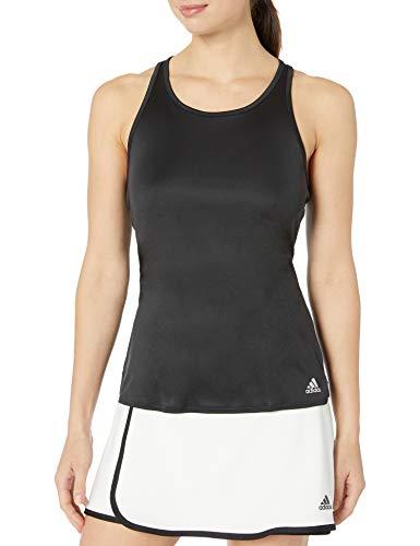 adidas Camiseta de Tirantes Club para Mujer, Mujer, Camisa, FUC70, Negro/Plateado Mate/Blanco, XXS