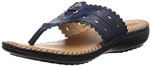 BATA Women Solitaire Thong Blue Slippers-4 (5719889)