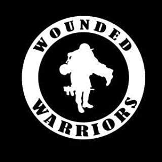 Wounded Warriors Round Military Vinyl Decal Sticker - Sticker Graphic - Auto, Wall, Laptop, Cell, Truck Sticker for Windows, Cars, Trucks