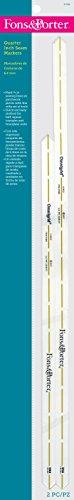Fons & Porter Fons&Porter Marcadores de 35,56 cm de costura de cuarto de pulgada Mrkrs14 y 45,72 cm, extra largo, pulgadas