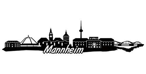 Samunshi® Mannheim Skyline Aufkleber Sticker Autoaufkleber City Gedruckt in 7 Größen (20x4,8cm schwarz)