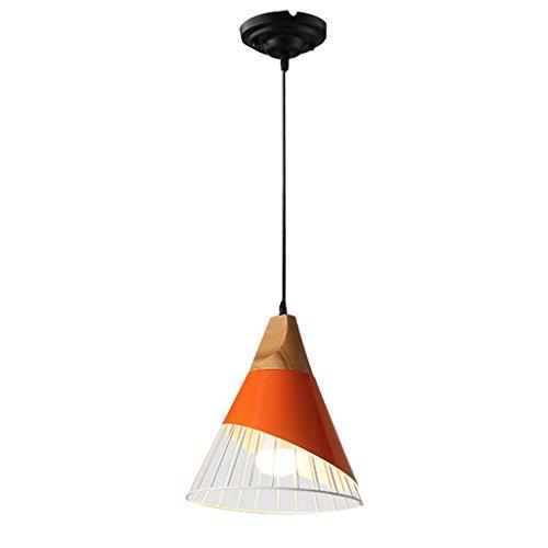 WYBW Novely Chandeliers- Lámpara de techo creativa Nordic PostModern Macarons Personal Color Pequeña Iluminación para Salón/Dormitorio/Pasillo, Cabeza única, Naranja