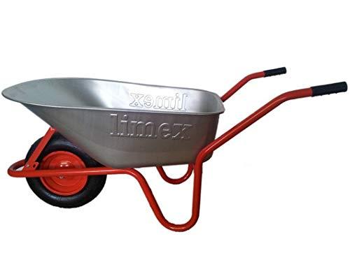 ALTRAD LIMEX Bauschubkarre Gartenschubkarre Rot 100l Liter Mulde verzinkt *NEU*