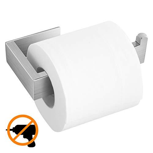 Toilettenpapierhalter ohne bohren Klopapierhalter aus Edelstahl Selbstklebend Papierhalter WC Papier Halterung Silber