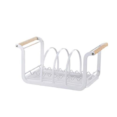 Nfudishpu Spüle Geschirrtrockner Topfdeckel Organizer Tellerregal Geschirr Organizer Utensilienhalter mit Griff Moderne Küchenarbeitsplatte