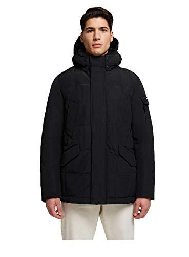WOOLRICH - Mantel Mann Blizzard Field Jacket Schwarz - L