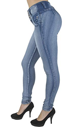 Price comparison product image Plus Size,  Colombian Design,  High Waist,  Butt Lift,  Skinny Jeans in M. Blue Size 14