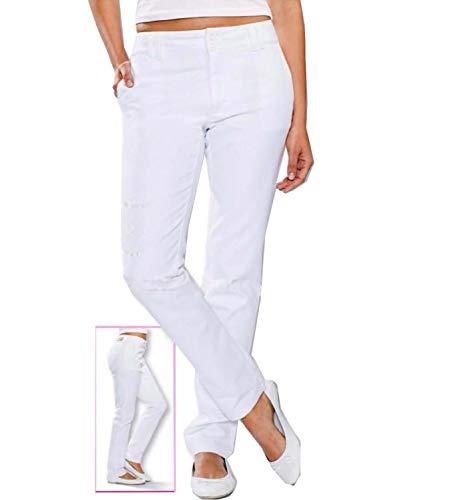 Whitewear Stretch Chinohose Katja Hose Praxis Berufshose Pflege Hose weiß Gr. 46