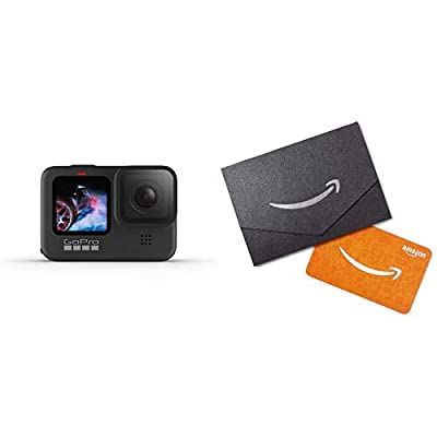 GoPro Hero9 Black Waterproof Action Camera + $50 Amazon Physical Gift Card in Envelope by