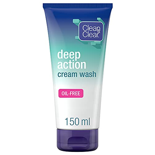 Clean and clear, Deep Action Oil-Free Cream Wash,...