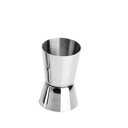 YUN&DSC Cóctel del Aparejo Doble Barra Craft Espíritu Taza de Medida, de Acero Inoxidable, 20/30 ml 20/40 ml 25/50 ml de Plata (Color : Silver, Size : 20/40ml)