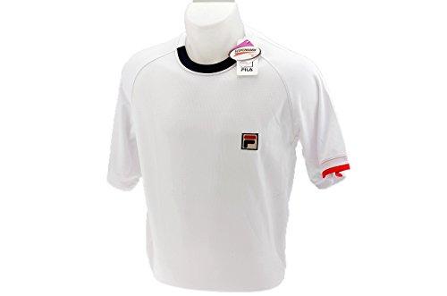 Fila - Tennis-T-Shirts für Herren in white, Größe S