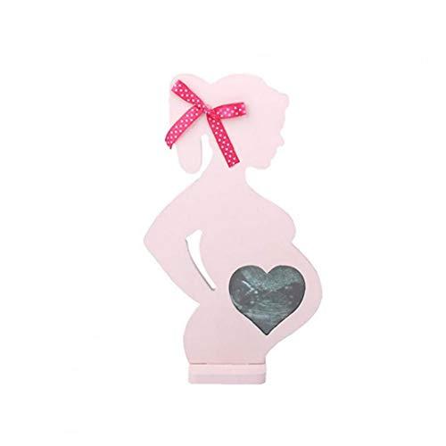 Romote Cuadros de Madera para Las Mujeres Embarazadas decoración de la Boda Puntales Embarazada Marco de Madera de Rosa 1PC