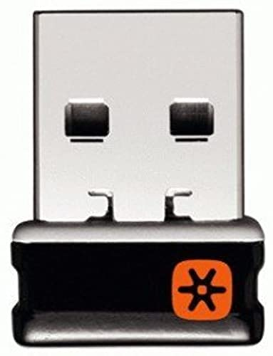 Logitech C-U0007 Unifying Receiver for Mouse and Keyboard Works with Any Logitech Product That Display The Unifying Logo (Orange Star, Connects up to 6 Devices)