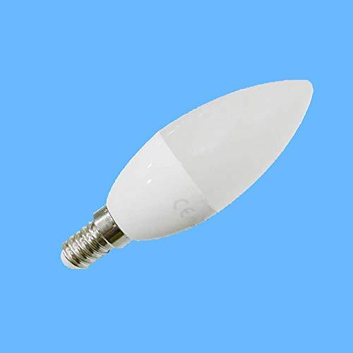 Bombilla Led Vela E14 7W Luz Fría (6 unidades)