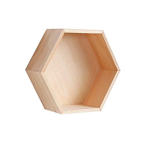 Kbsin212 Estantes de Madera hexagonales