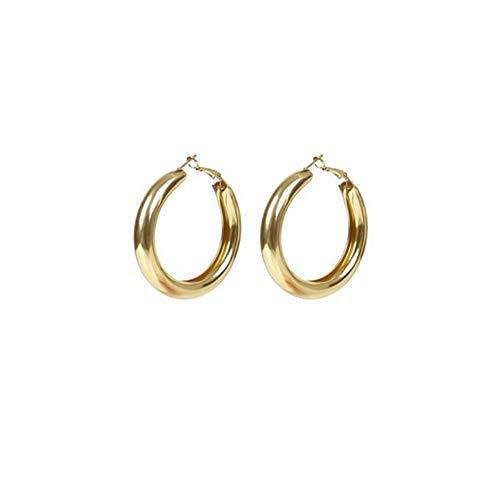 ZENING 2 pendientes de clip de oreja de metal minimalista, para mujer, joyería sin perforación, de acero inoxidable