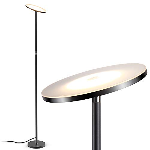 Stehlampe, LED Deckenfluter Stehleuchte Stufenlos Dimmbar Industrielle Stehlampen, TECKIN Hohe Stehende Moderne Pole-Licht, Stehlampe für Wohnzimmer Büro Schlafzimmer, 71′ TECKIN Wohnkultur Lampen