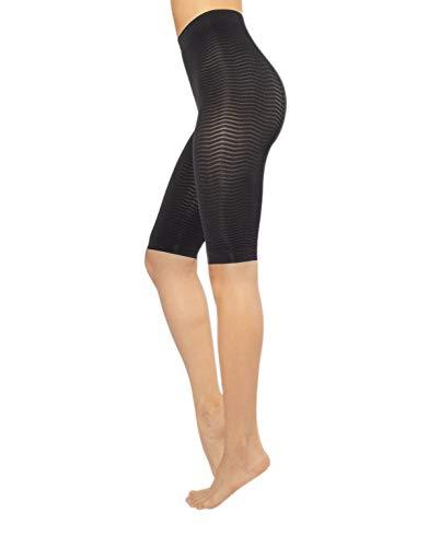 CALZITALY Anti-Cellulite Schlafanzug gegen Unreinheiten | Schlanke Massage-Effekt für Cellulite | Rosa, Schwarz | S/M, L/XL | Made in Italy |, 018B3, Schwarz, 018B3 L-XL
