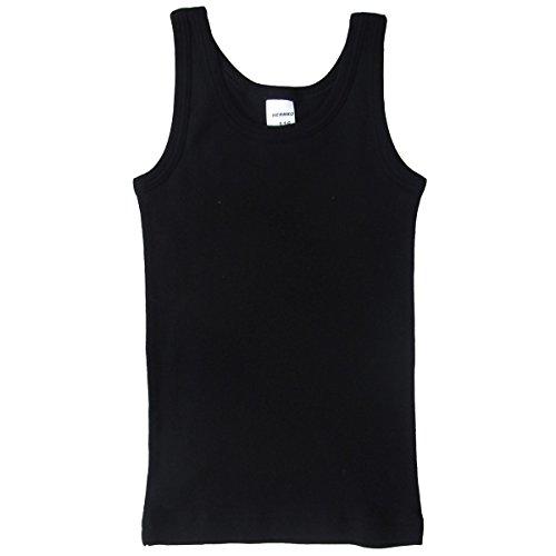 HERMKO 62800 Kinder Funktions-Tank Top schnelltrocknendes Unterhemd für Jungen und Mädchen, Farbe:schwarz, Größe:128