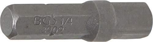 "BGS 8202 | Bit-Knarren-Adapter | Außensechskant 6,3 mm (1/4\"") - Außenvierkant 6,3 mm (1/4\"") | 30 mm"