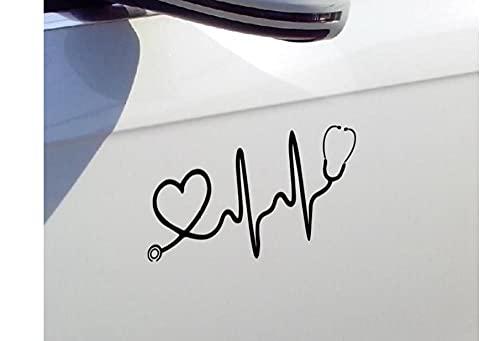 MDGCYDR Pegatinas Coche Personalizadas 11Cmx24Cm Divertido Estetoscopio Doctor Fun Car Stickers Y Calcomanías para Turcks Cars