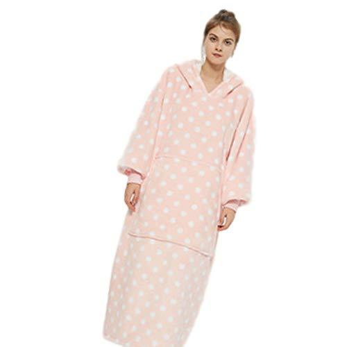 Buding Manta para la cabeza con capucha, para mujer, otoño, invierno, protección contra el frío, mantiene el calor, pijama de TV, chándal