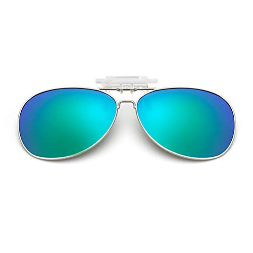 lenti sole clip unisex clip on polarizzate visione notturna lenti anti-riflesso clip Flip up occhiali da sole miope per guida/Outdoor/pesca