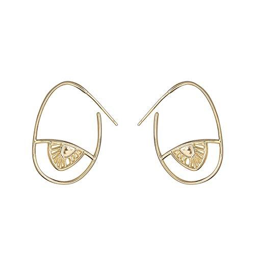 MURUI EH S925 oreja de plata esterlina, lujo ligero, pendientes, hembra, diseño creativo, pendientes ojo de diablo yc715
