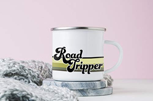 Product Image 4: FuanYuanfang Funny Camper Coffee Mug – ROAD TRIPPER Enamel Campfire Mug – Mountain Camping Coffee Cup, Nature Outdoor Hiking Birthday Christmas Camp Lover Gifts for Man, Woman, Friends 11oz