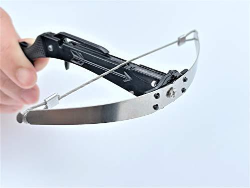 1010 Mini Crossbow Toothpick Crossbow Toothpick Shooter Toy Gun (Black) - US Stock