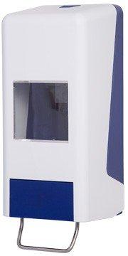 Softflaschenspender für 1.000 ml oder 2.000 ml Softflaschen in Grau-Weiß ODER Blau-Weiß - Blau/Weiß