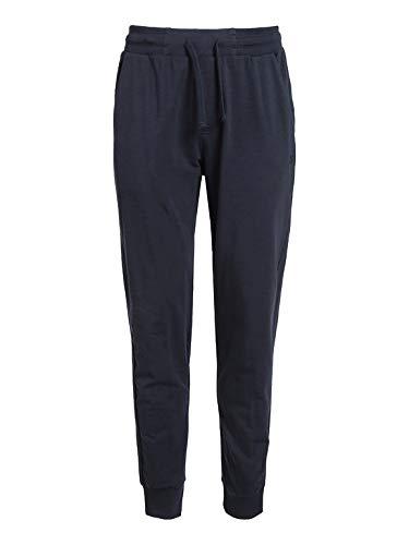 Pantaloni Tuta Uomo con Polsini Cotone Garzato Taglie Forti Nero 3XL 4XL 5XL 6XL (5XL - Blu)