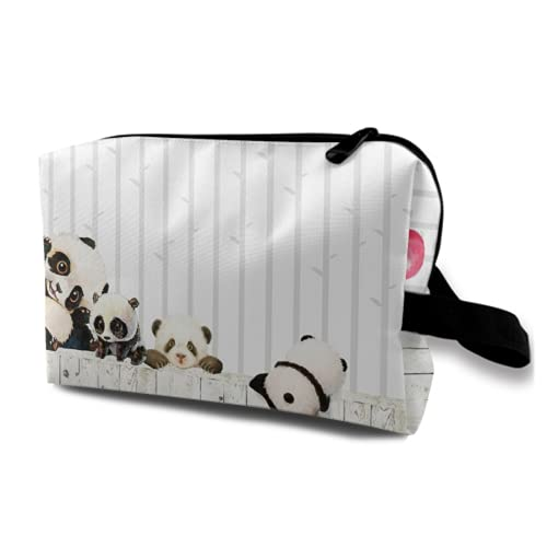 Neceser Colgante de Viaje,Lindo Estilo Animal de Dibujos Animados de Panda,Organizador de Maquillaje cosmético Bolsa de higiene y Organizador de Ducha