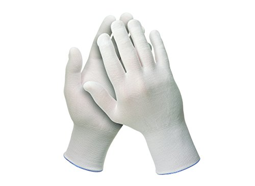 Kimberly Clark 38717 Jackson Safety G35 Nylon-Handschuhe, Beidhändig Tragbar, 24 cm, Weiß (240-er pack)